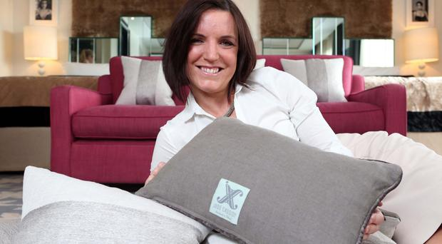 Exciting time: Jude Cassidy made cushions for the Merchant Hotel