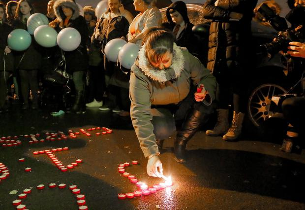 Vigil for Christopher Meli who was murdered in an attack in the Twinbrook area of Belfast, Northern Ireland. ( Photo by Kevin Scott / Presseye )