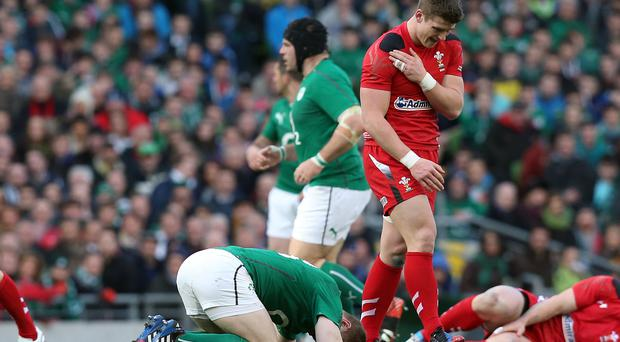 Impact: A collision between Brian O'Driscoll and Scott Williams registered a huge 27Gs