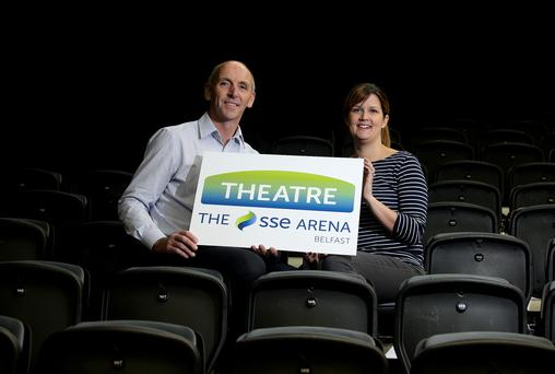Neil Walker, General Manager, and Lisa McAnally, Event Manager at The SSE Arena, Belfast.