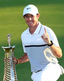 Number one: Rory McIlroy is European Golfer of the Year