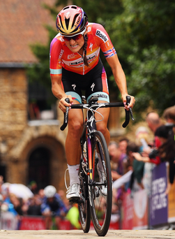 Pedal power: Lizzie Armitstead was impressed after watching Northern Ireland host the Giro d'Italia in 2014