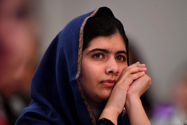Nobel Prize winner Malala Yousafzai during the Poppies for Peace in Peshawar event in Birmingham to mark a year since the Taliban attack on the Army Public School in Peshawar, Pakistan. PA