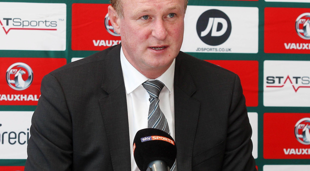 In charge: Michael O'Neill will lead Northern Ireland in France