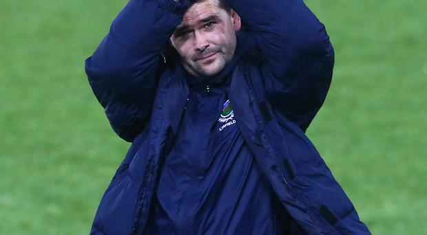 Applause: boss David Healy acknowledges the Blues fans