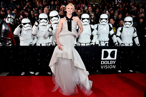 HOLLYWOOD, CA - DECEMBER 14: Actress Gwendoline Christie attends the World Premiere of ?Star Wars: The Force Awakens? at the Dolby, El Capitan, and TCL Theatres on December 14, 2015 in Hollywood, California. (Photo by Alberto E. Rodriguez/Getty Images for Disney)***BESTPIX***
