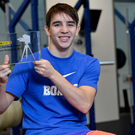 Boxing clever: Michael Conlan receives the BBC NI Sports Personality of the Year Award yesterday