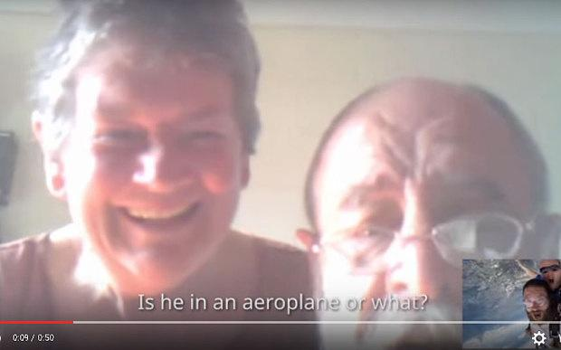 Irish backpacker Roger Ryan surprised parents with Skype call at 14,000 feet