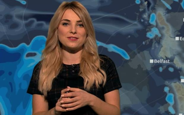 Channel 5's Sian Welby delivers forecast using Star Wars puns. Image: Channel 5