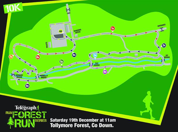 The Tollymore 10k route