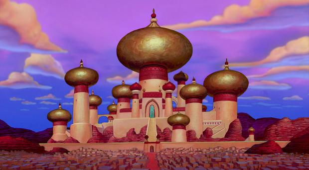 The city of Agrabah, in Disney's animated Aladdin. Pic Disney