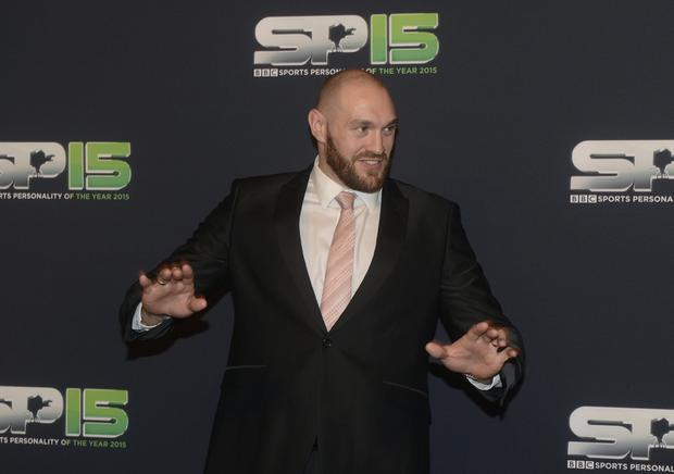 Boxing Heavyweight Champion of the World Tyson Fury arrives at the BBC Sports Personality of the Year Awards in Belfast