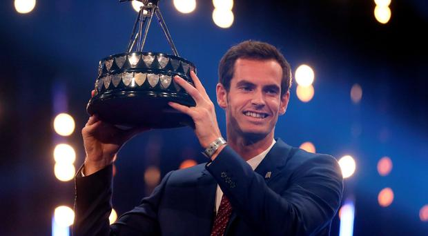 Winner of 2015 Sports Personality of the Year Andy Murray during Sports Personality of the Year 2015 at the SSE Arena, Belfast.