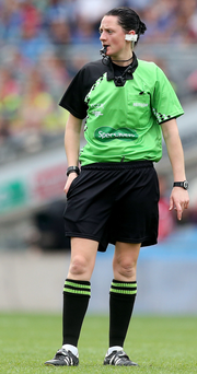In the middle: Maggie Farrelly will become the first female to referee a senior inter-county clash