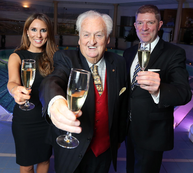 Sir William Hastings was joined by Rachel Crawford, manager of the spa at Culloden and Adrian McNally, the estate's general manager