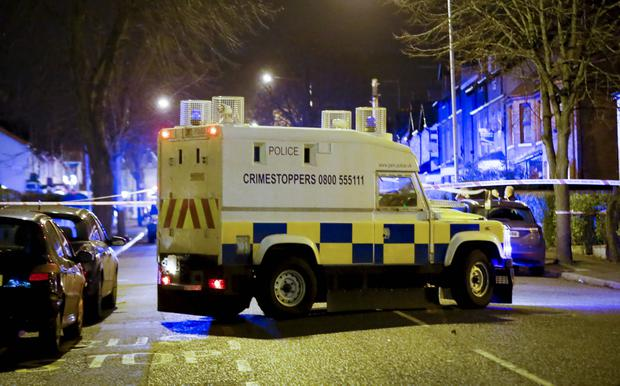 Scene of the collision on the Donegall Road in west Belfast, Northern Ireland on December 23 ( Photo by Kevin Scott / Presseye)