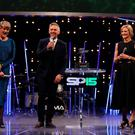 Presenter Gabby Logan, Presenter Gary Lineker and Presenter Clare Balding (left) during Sports Personality of the Year 2015 at the SSE Arena, Belfast. PRESS ASSOCIATION Photo. Picture date: Sunday December 20, 2015. See PA story SPORT Personality. Photo credit should read: Niall Carson/PA Wire