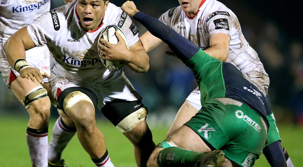 Powering on: Nick Williams in action against Connacht