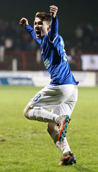 That's my boy: Linfield hero Paul Smyth was too good for Glentoran on Boxing Day