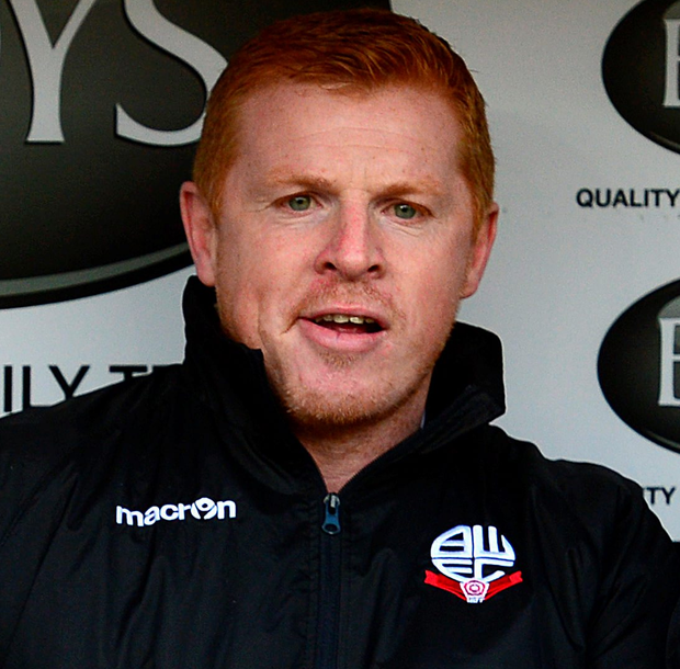 Relief: Neil Lennon was thrilled to grab a victory