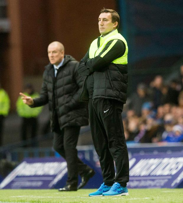 Hibs boss Alan Stubbs was a victim of 'inappropriate singing' by some Rangers fans at Monday's match at Ibrox