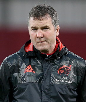 Determined: Munster boss Anthony Foley