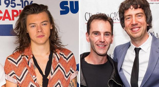 Harry Styles, Johnny McDaid and Gary Lightbody