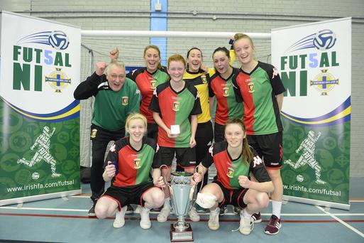 Silver lining: Glentoran Belfast United were winners of the inaugural National Female Futsal Finals