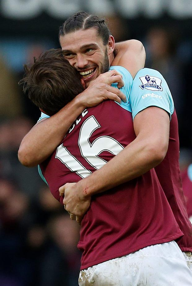 Top man: Andy Carroll hit the second goal against Liverpool