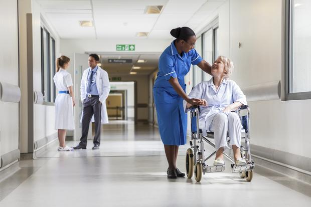 Nurses are jetting out of Northern Ireland to work in England at weekends where they can earn triple the hourly rate here - up to £600 for two shifts. Picture posed