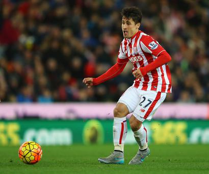 Wanted man: Bojan was rumoured to have a £10m buy-out clause in his Stoke contract but that has been dismissed