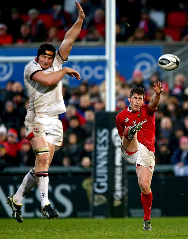 Getting his kicks: Ian Keatley proved his worth to Munster