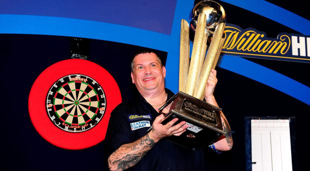 Just champion: Gary Anderson retained his PDC World title