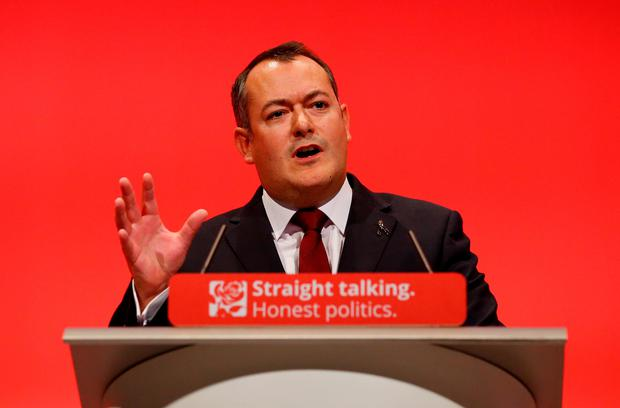 "Michael Dugher who today said on Twitter that he had been ""sacked"" by Labour leader Jeremy Corbyn as shadow culture secretary. P"