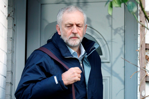 Labour Party leader Jeremy Corbyn leaves his home in north London, as he is expected to finalise a reshuffle of his top team after late-night talks with key members of the shadow cabinet ended without any announcement.