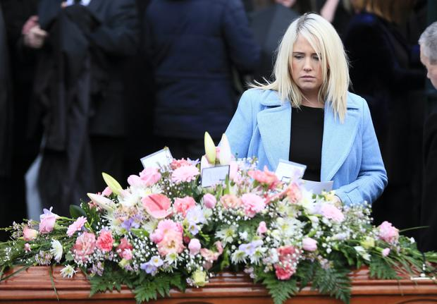 Joanne Dorrian at the funeral of Pat Dorrian (59), mother of Lisa Dorrian, at St Comgalls Church in Bangor on January 5, 2016 (Photo by Kevin Scott/Belfast Telegraph)