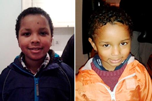 Zachary, eight, and Amon (right), four, from Bexley who have gone missing with their mother, Sian Blake, 43, from Erith, Kent, as police have reissued their appeal for information as homicide detectives take over the investigation.