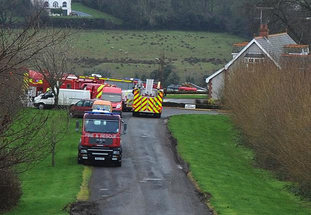The scene at Gilliland's farm on the Culmore Road. Picture Martin McKeown