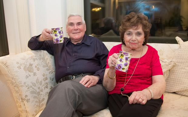 Pastor James McConnell at home with his wife Margaret last night