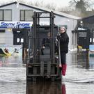 Businesses flooded at Kinnego Marina, Craigavon as Lough Neagh rises. Photo by TONY HENDRON/Presseye.