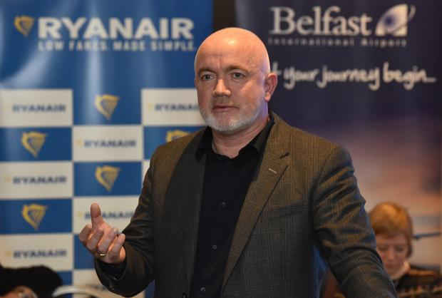 David O'Brien, chief commercial officer Commercial officer Ryanair at today's announcement