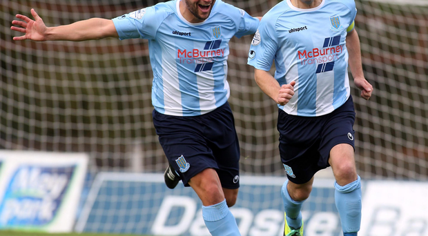 Case for defence: Ballymena United skipper Jim Ervin (right) is gunning for his old club