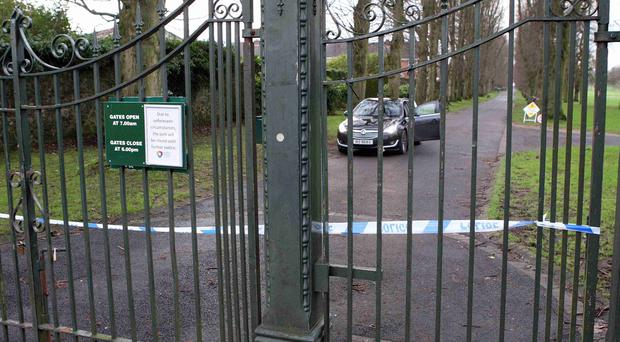 Man's body was found in Lurgan Park in Lurgan on Friday morning. Police say they are treating his death as suspicious. Picture by Presseye.