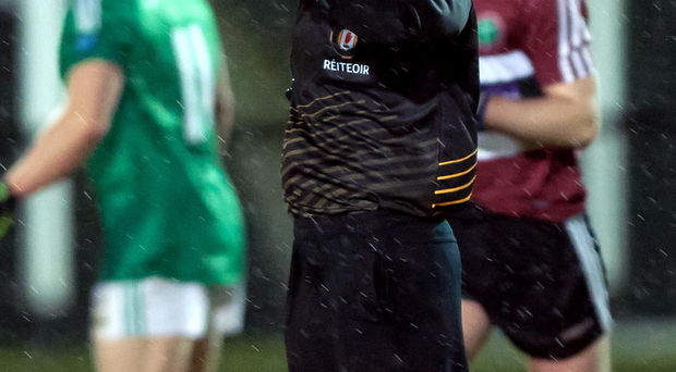 Calling the shots: Maggie Farrelly becomes the first female to officiate a senior match, between Fermanagh and St Mary's