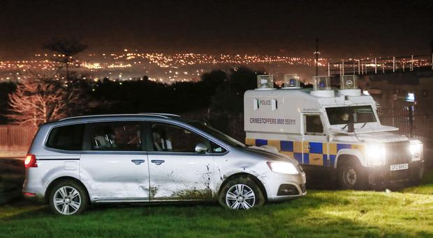 Two teenagers were arrested following the car chase in west Belfast ( Photo by Kevin Scott / Presseye )