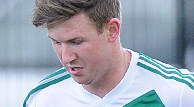 Crumlin Star's Steven Brown scored the winning goal over Oxford United Stars in Saturday's Irish Cup fifth round tie