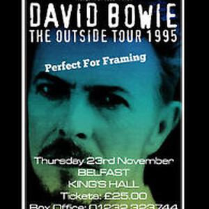A Belfast poster for David Bowie's Outside Tour is on sale on eBay