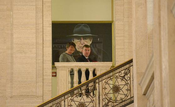 Arlene Foster pictured with Mervyn Storey