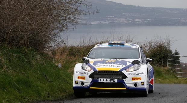Road to success: Alastair Fisher has his eyes on the Irish Tarmac Rally Championship crown