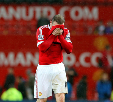 Familiar sight: Wayne Rooney looks disappointed after the win over Sheffield United